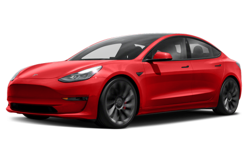 side view of the 2021 Tesla Model 3