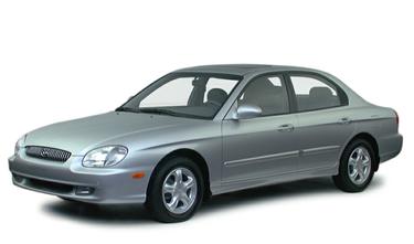 side view of 2000 Sonata Hyundai