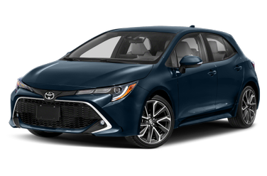 side view of 2020 Corolla Hatchback Toyota