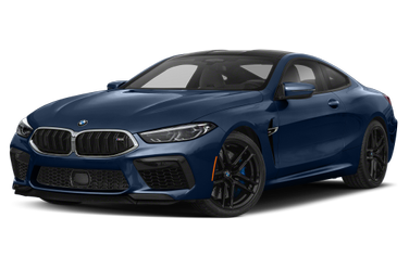 side view of 2020 M8 BMW