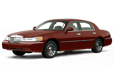 side view of 2000 Town Car Lincoln