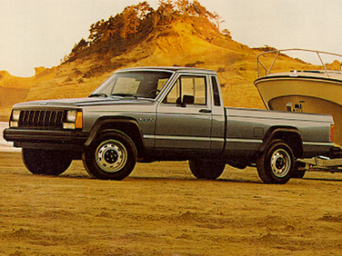 side view of 1992 Comanche Jeep