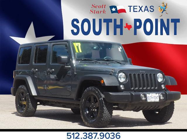 used 2017 Jeep Wrangler Unlimited car, priced at $36,882