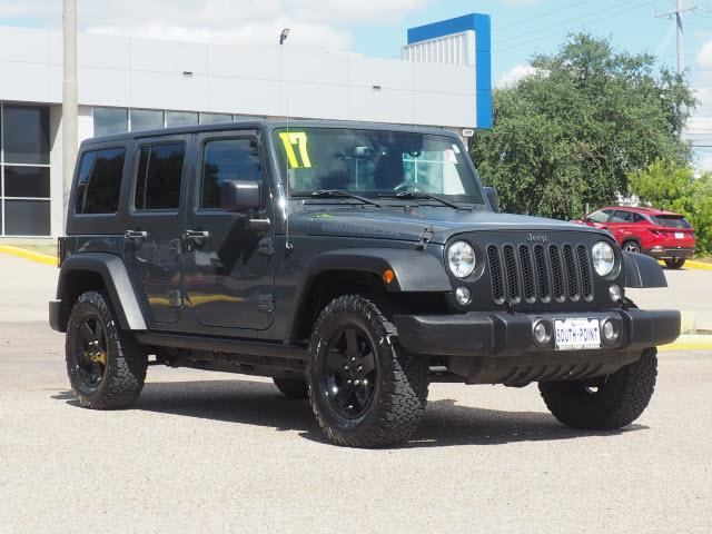 used 2017 Jeep Wrangler Unlimited car, priced at $36,981